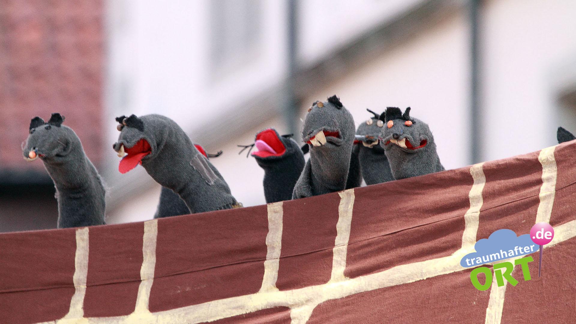 Kinderaugen leuchten, wenn die Ratten kommen